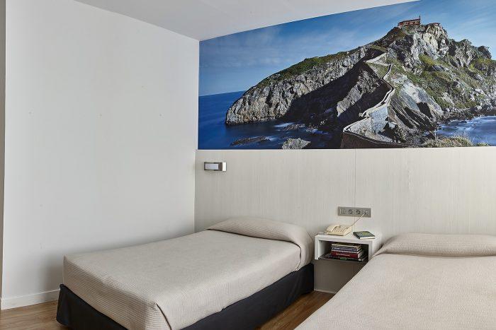 Habitación Tween San Juan de Gaztelugatxe Hotel Seminario Bilbao