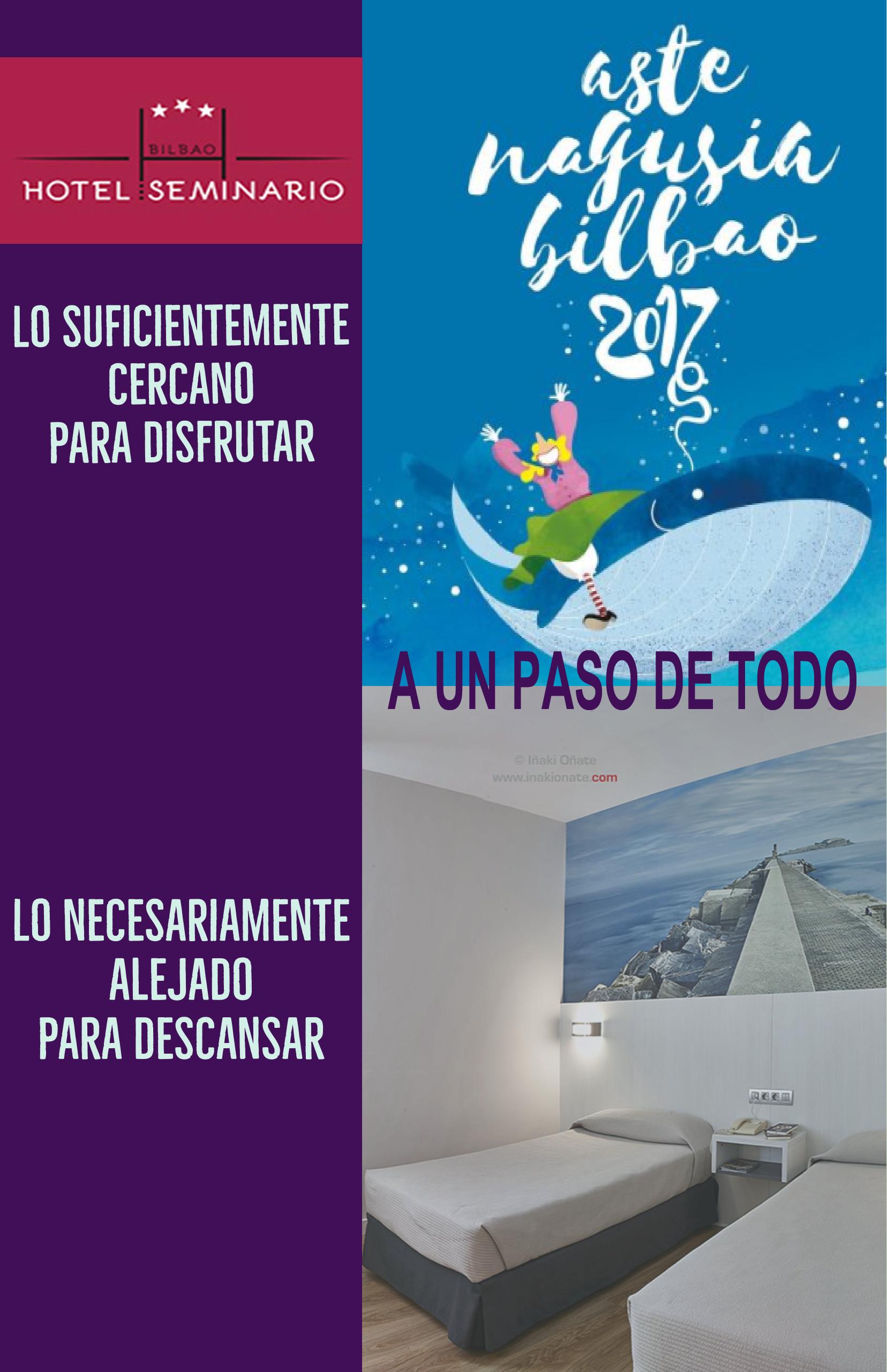 Hotel Seminario Bilbao, a un paso de todo